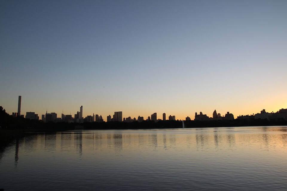 Sunset in Battery Park City