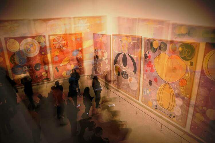 An image of an exhibition in a gallery