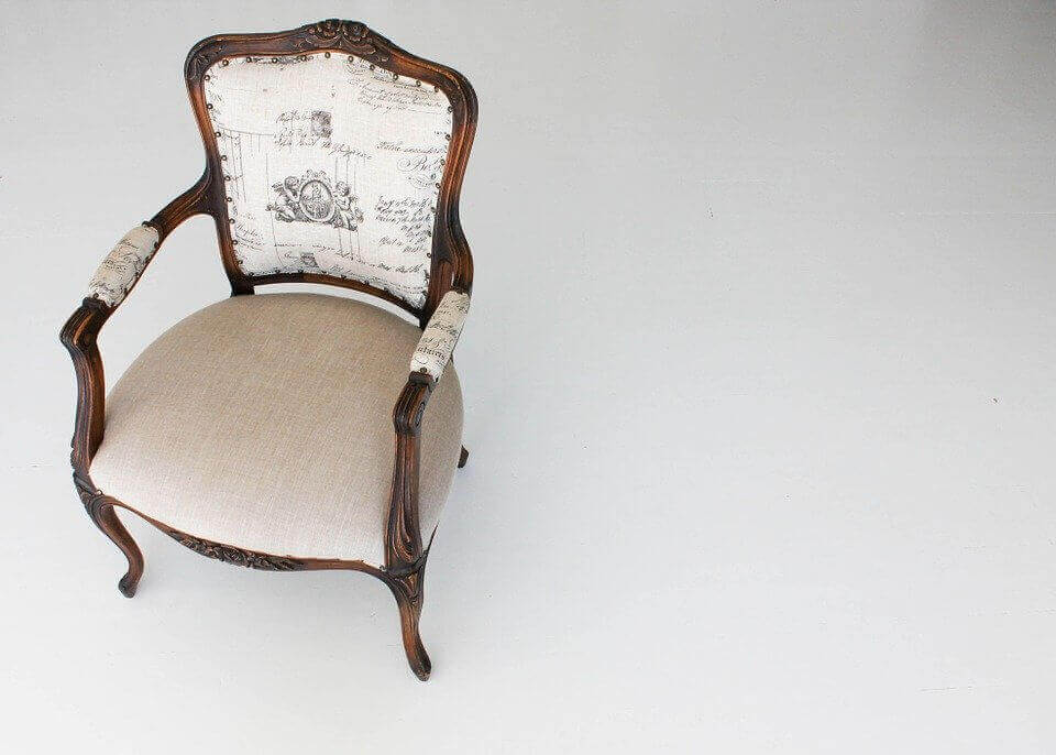 an image of a white chair