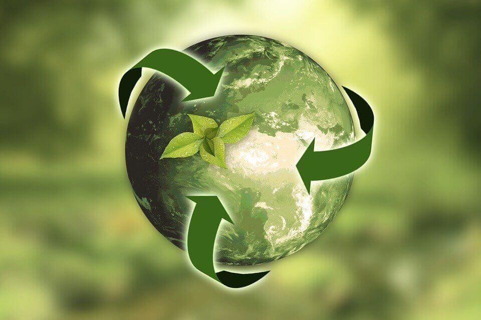 the recycle logo