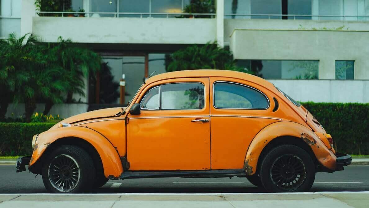Old yellow beetle
