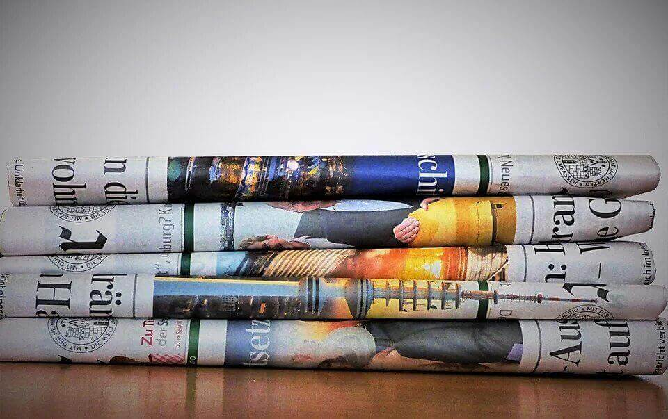 Colorful newspapers.