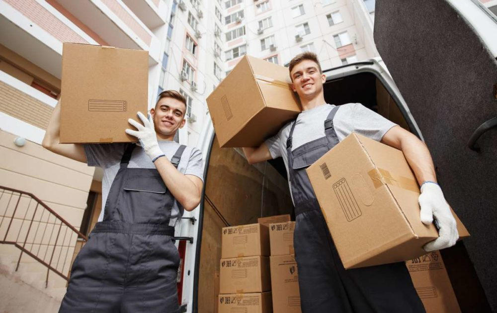 Local movers in New York relocating boxes