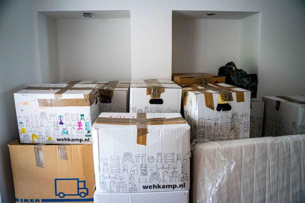 Pile of cartons